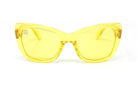RainbowOPTX - Vega Transparent Yellow Sunglasses / Yellow Lenses