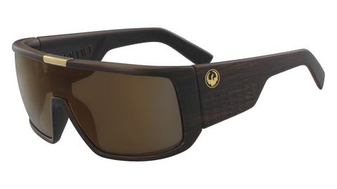 Dragon - Domo Matte Woodgrain Sunglasses / Brown Lenses