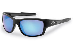 Flying Fisherman - Down Sea 7315 Matte Black Sunglasses, Smoke-Blue Amber Lenses