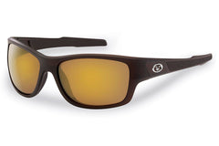 Flying Fisherman - Down Sea 7315 Matte Brown Sunglasses, Amber-Gold Mirror Lenses