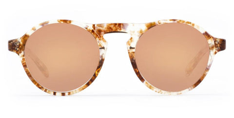 Westward Leaning - Dyad 0.10 Polished Quartz Tortoise Acetate Sunglasses / Rose Gold Mirror Lenses