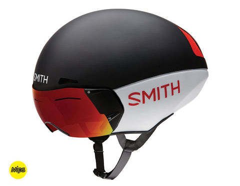 Smith - Podium TT MIPS Matte Red White Black Medium Bike Helmet