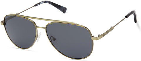 Kenneth Cole - KC7233 Blue Sunglasses / Smoke Polarized Lenses