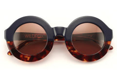 Wildfox - Twiggy Factory Navy/ Tortoise Sunglasses