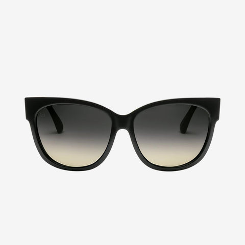 Electric - Danger Cat 56mm Gloss Black Sunglasses / Gradient Lenses