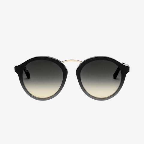 Electric - Mixtape 55mm Gloss Black Sunglasses / Black Gradient Lenses