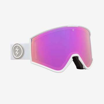 Electric - Kleveland Matte White Snow Goggles / Brose Pink Chrome Lenses