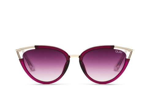 Quay Hearsay Red Sunglasses / Purple Fade Lenses