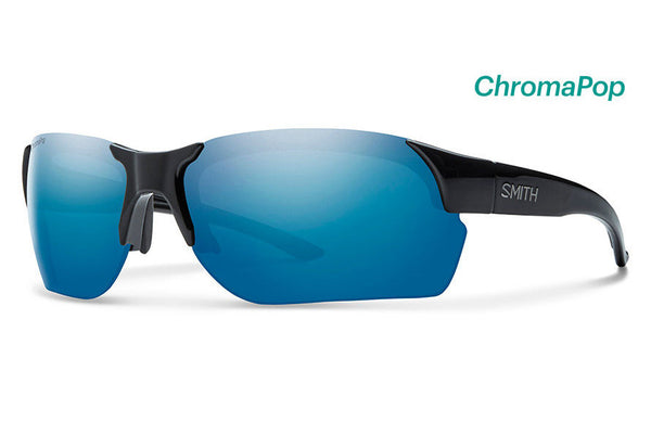 Smith - Envoy Max Black Sunglasses, ChromaPop Polarized Blue Mirror Lenses