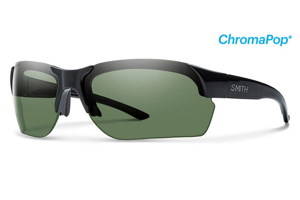 Smith - Envoy Max Black Sunglasses, ChromaPop+ Polarized Gray Green Lenses