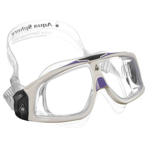 Aqua Sphere - Seal 2.0 Ladies White Lavender Accent Swim Goggles / Clear Lenses