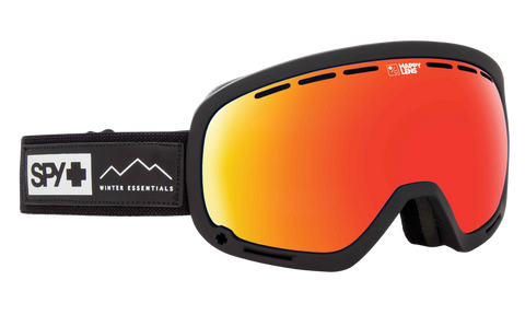 Spy - Marshall Essential Black Snow Goggles / Happy Gray Green Red Spectra Lenses