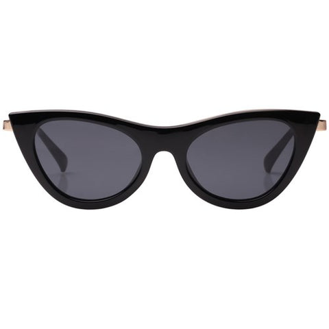 Le Specs - Enchantress Black Sunglasses / Smoke Mono Lenses