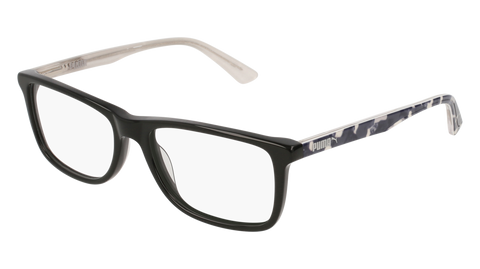 Puma - PJ0020O Junior Black + Grey Eyeglasses / Demo Lenses