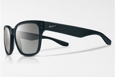 Nike - Volano Matte Black / Gunmetal Sunglasses, Grey Silver Flash Lenses