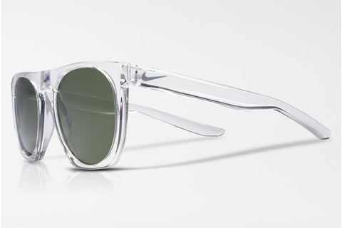Nike - Flatspot Crystal Clear / Wolf Grey Sunglasses, Green Lenses