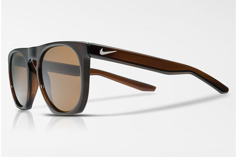 Nike Flatspot Brown Sunglasses, Brown Polarized Lenses