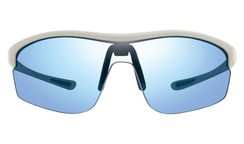 Revo - Edge 64mm White Sunglasses / Blue Water Lenses