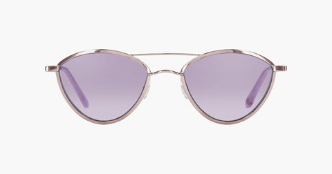 Garrett Leight - Breeze Lilac Silver Lauren Sunglasses / Semi Flat Lavender Lenses