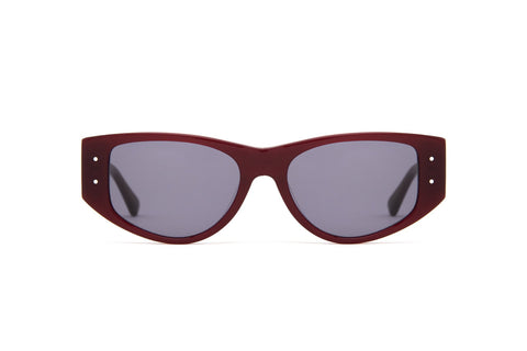 Epokhe - Eno 53mm Blood Polished Sunglasses / Black Lenses