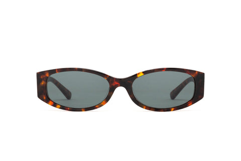 Epokhe - Machina 54mm Tortoise Polished Sunglasses / Green Lenses