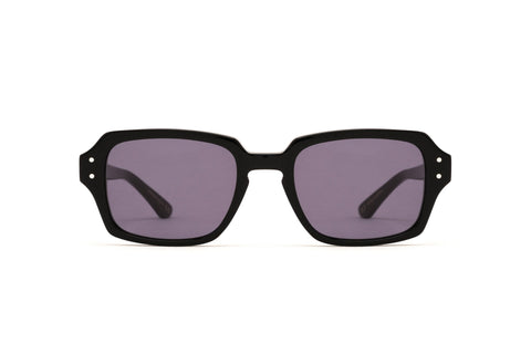 Epokhe - Wilson Black Polished Sunglasses / Black Lenses