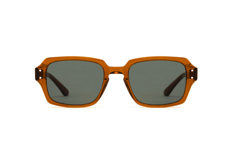 Epokhe - Wilson Tobacco Polished Sunglasses / Green Lenses