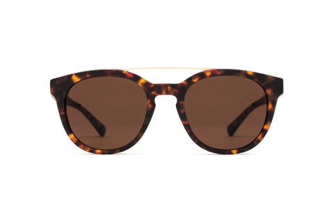 Epokhe - Anteka Tortoise Matte Gold Sunglasses / Bronze Polarized Lenses