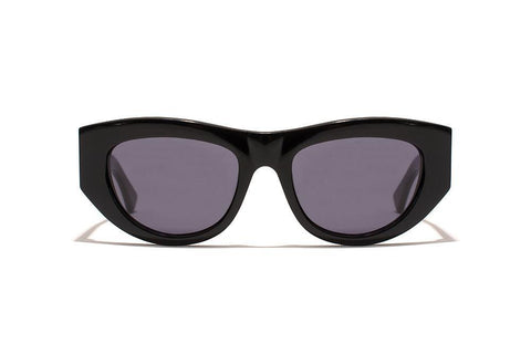 Epokhe - Candy 51mm Black Gloss Sunglasses / Black Lenses