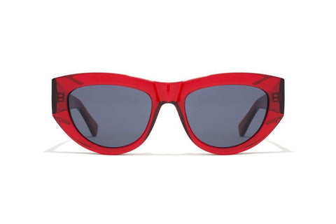 Epokhe - Candy 51mm Blood Red Translucent Gloss Sunglasses / Black Lenses
