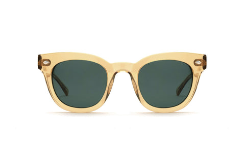 Epokhe - Dylan 49mm Citrine Polished  Sunglasses / Green Lenses