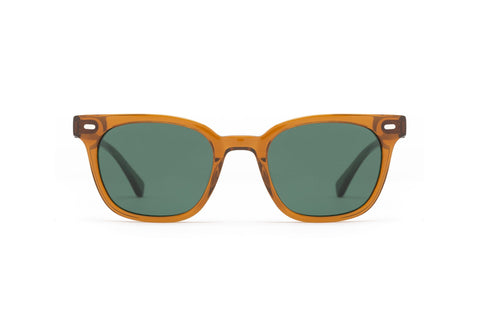 Epokhe - Kino 50mm Tobacco Polished Sunglasses / Olive Lenses