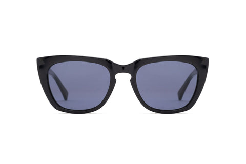 Epokhe - Kupit 51mm Black Polished Sunglasses / Black Lenses