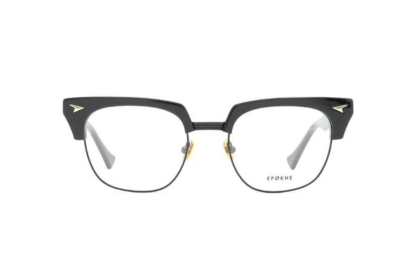 Epokhe - Neto 51mm Black Polished Black Eyeglasses / Demo Lenses
