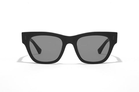 Epokhe - Non 51mm Black Polished Sunglasses / Grey Lenses