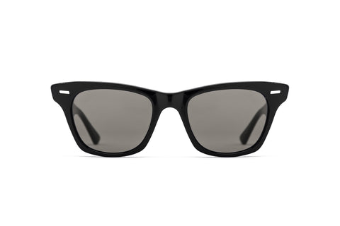 Epokhe - Szex 51mm Black Polished Sunglasses / Black Lenses