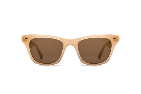 Epokhe - Szex 51mm Bone Polished Sunglasses / Bronze Lenses
