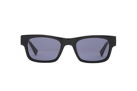 Epokhe - Uzi 50mm Black Polished Sunglasses / Black Lenses