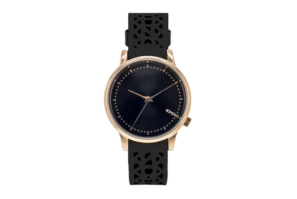 Komono - Estelle Cutout Black Rose Watch