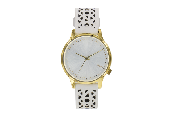 Komono - Estelle Cutout White Gold Watch