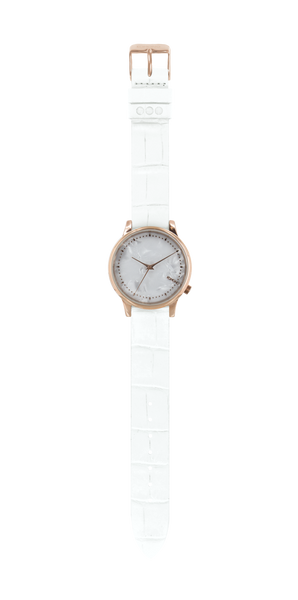Komono - Estelle Monte Carlo White Croc Watch
