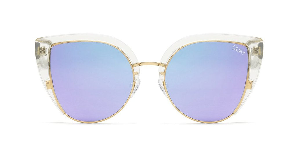 eafb9c3e89e Quay Oh My Dayz Clear Sunglasses   Purple Mirror Lenses – New York Glass