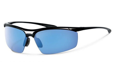 Forecast - Aric Black Sunglasses, Blue Mirror Lenses