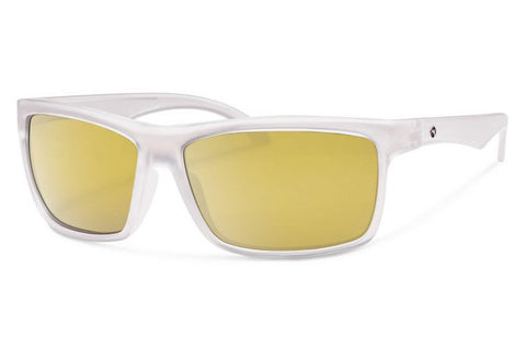 Forecast - Ajay Matte Crystal Sunglasses, Gold Mirror Lenses