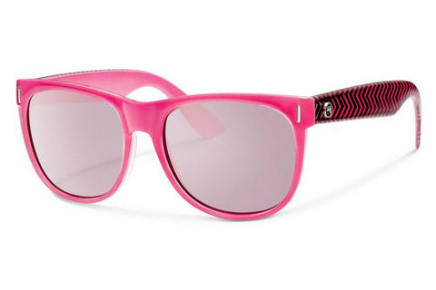 Forecast - Avery Hot Pink Sunglasses, Pink Mirror Lenses