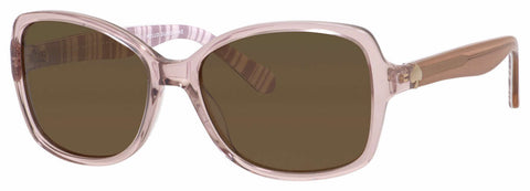 Kate Spade - Ayleen P S Beige Striped White Sunglasses / Brown Polarized Lenses