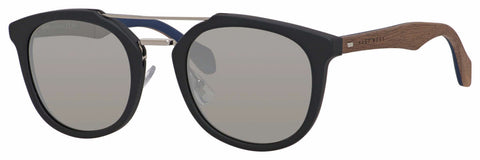 BOSS by Hugo Boss - 0777 S Black Brown Sunglasses / Silver Mirror Lenses