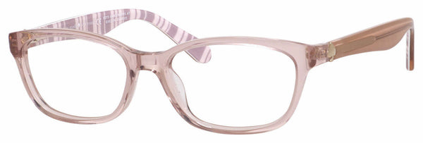 Kate Spade - Brylie 52mm Beige Striped White Eyeglasses / Demo Lenses