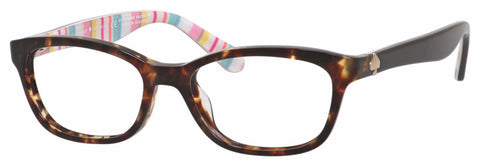 Kate Spade - Brylie 48mm Havana Pattern Multcolored Eyeglasses / Demo Lenses