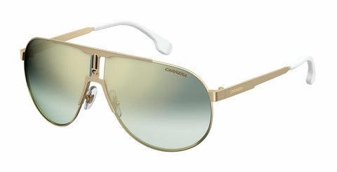 Carrera - 1005 S Gold Sunglasses / Green Silver Mirror Lenses